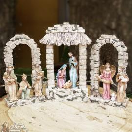Crèche de Noël Triptyque Led - résine