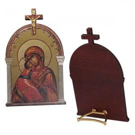 Cadre Icone la Vierge et l'enfant avec croix