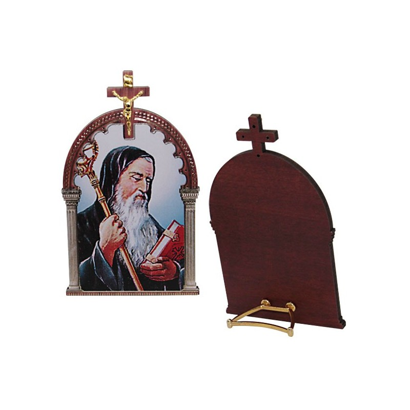 wooden-frame-with-cross-of-st-benedict-and-glide-to-ask