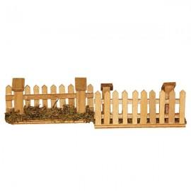 Barrières en bois - lot de 2 pièces