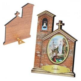 Cadre de l'Apparition de Lourdes en forme d'Eglise