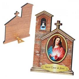 Cadre au Sacré Coeur de Jésus en forme d'Eglise