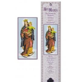 Pochette encens - Vierge Marie Auxiliaire - 15 pces