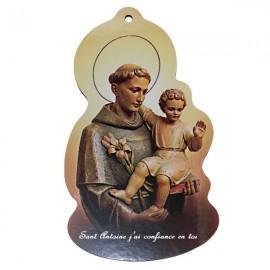 Cadre en bois avec St Antoine - Personnalisable