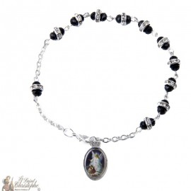 Bracelet dizainier perles strass - personnalisable