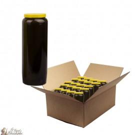 Bougie de neuvaine noir -  carton 20 pièces