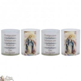 Bougies Veilleuses Vierge Miraculeuse - 4 pièces